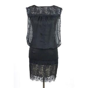 Jessica Mcclintock Black Cocktail Dress Sz 6